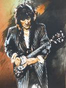 """RONNIE WOOD (B.1947) (ARR),""""SLIDE ON THIS"""" - SELF PORTRAIT, SIGNED, TITLED AND NUMBERED 131/475,"""