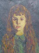 RONALD OSSORY DUNLOP (1894-1973) (ARR), PORTRAIT OF A GIRL, SIGNED, OIL ON CANVAS, 53.5 X 44CM.