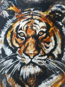 RONNIE WOOD (B.1947) (ARR), TIGER, SIGNED, TITLED AND NUMBERED 282/295 IN PENCIL, 47.5 X 33CM (