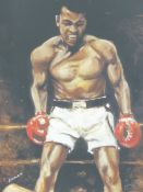RONNIE WOOD (B.1947) (ARR), MUHAMMAD ALI, SIGNED BY THE ARTIST AND ALI AND INSCRIBED AP 7/20 IN