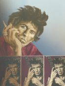 RONNIE WOOD (B.1947) (ARR), KEITH RICHARDS, SIGNED, TITLED KEITH IV AND INSCRIBED AP VIII/X,