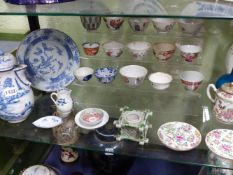 A COLLECTION OF ORIENTAL DESIGN TEAWARES,ETC TO INCLUDE VARIOUS EXPORT PIECES AND ENGLISH PIECES