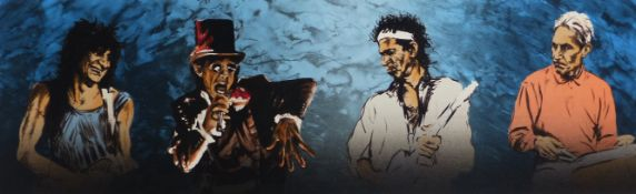 RONNIE WOOD (B.1947) (ARR), VOODOO LOUNGE 4 (I) SHOWING RONNIE WOOD, MICK JAGGER, KEITH RICHARDS AND