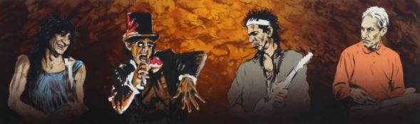 RONNIE WOOD (B.1947) (ARR), VOODOO 4 (II) SHOWING RONNIE WOOD, MICK JAGGER, KEITH RICHARDS AND