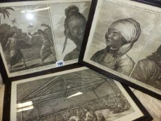 THREE 18th.C.PRINTS RELATING TO CAPTAIN COOK'S VOYAGES AND VARIOUS INDIGENOUS PEOPLE OF THE