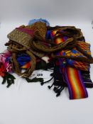 A GROUP OF WOVEN BELTS, ETC, PREDOMINANTLY FROM SOUTHERN CAUCASUS.