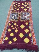 NORTHERN INDIAN WOVEN AND APPLIQUED TENT HANGINGS.