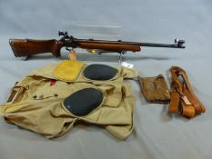 RIFLE, BSA INTERNATIONAL TARGET, MARTINI ACTION SINGLE SHOT .22lr, SERIAL NUMBER 044867 (ST NO.