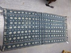 A QTY OF IKAT WOVEN YEXTILES.
