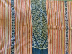 WOVEN IKAT FRAGMENTS AND HANGINGS.