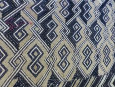 A GOOD COLLECTION OF INDIAN APPLIQUE WOVEN FABRICS,ETC.