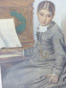 A.E.FISHER (19th.C. ENGLISH SCHOOL) WHAT SHALL I SING? A SIGNED AND DATED WATERCOLOUR. 35 x 25 cms.