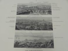 MAJOR TAYLOR'S PANORAMA OF SYDNEY 1823, THREE PANORAMIC VIEWS OF PORT JACKSON IN NEW SOUTH WALES,