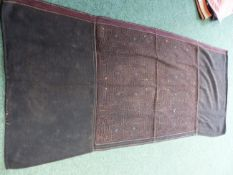 A QTY OF WOVEN AND APPLIQUED INDIAN TEXTILES