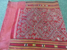 NORTHERN RAJASTHAN COVERLETS TO INCLUDE FINE STITCH AND MIRROR ROUNDELS.