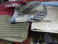 A MIXED COLLECTION OF PRINTED AND WOVEN TEXTILE PANELS.