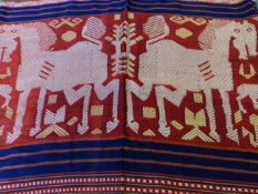 IKAT AND OTHER FAR EASTERN WOVEN FABRICS,ETC.