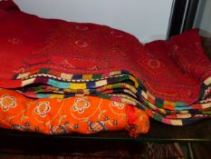 MADRAS AND OTHER INDIAN APPLIQUE CLOTHS.