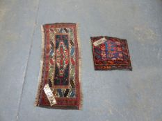 TWO ANTIQUE PERSIAN TRIBAL BAG FACES.