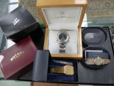 VARIOUS WATCHES TO INCLUDE ROTARY AND SEIKO.
