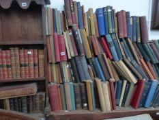 A QTY OF VARIOUS BOOKS AND BINDINGS.