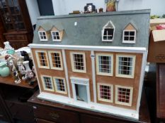 A LARGE DOLLS HOUSE AND VARIOUS FURNISHINGS.