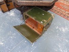 A US MILITARY FITTED SMALL TRUNK.