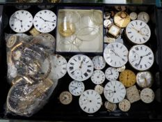 A SELECTION OF POCKET WATCH DIALS, ETC.