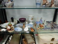 A GROUP OF CHINAWARE TO INCLUDE COPENHAGEN, WORCESTER, DOULTON ETC.