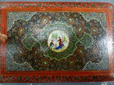 A PERSIAN HAND DECORATED ALBUM.