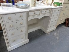 A VICTORIAN PAINTED DRESSING TABLE