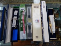 VARIOUS WATCHES TO INCLUDE TISSOT AND SWATCH.