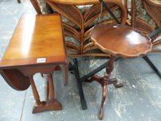 TWO SMALL OCCASIONAL TABLES.