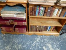 AN INTERESTING COLLECTION OF LEATHER BOUND AND OTHER BOOKS.
