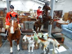 A BESWICK HORSES AND HOUNDS.