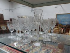 VARIOUS DRINKING GLASSES.