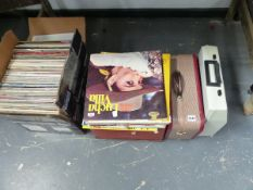 A LARGE QTY OF RECORDS.
