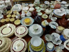 AN EXTENSIVE COLLECTION OF CHINAWARES TO INCLUDE PORTMEIRION.