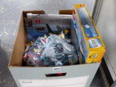 A LARGE BOX OF LEGO.