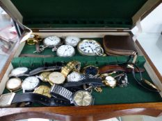VARIOUS FOB AND WRISTWATCHES.
