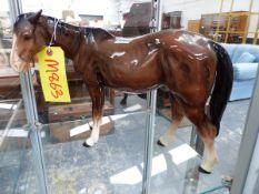 A MELLA WARE HORSE.