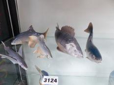 FIVE ROYAL COPENHAGEN FISH.
