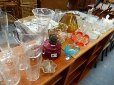 A QTY OF GLASSWARE,ETC.