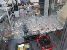 VARIOUS DRINKING GLASSES, ETC.