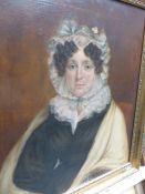 MID 19th.C.ENGLISH SCHOOL, PORTRAIT OF A LADY, OIL ON CANVAS. 77x63cms.