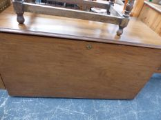 A LARGE MAHOGANY BLANKET CHEST.