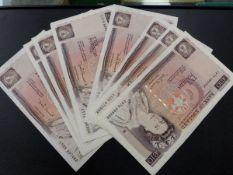 TEN FLORENCE NIGHTINGALE £10 NOTES.