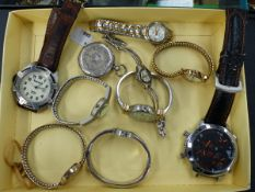 A SELECTION OF WATCHES, ETC.