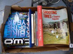 VARIOUS BOOKS AND SHOOTING TIMES EPHEMERA.