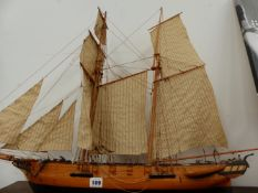 A MODEL SAILING SHIP